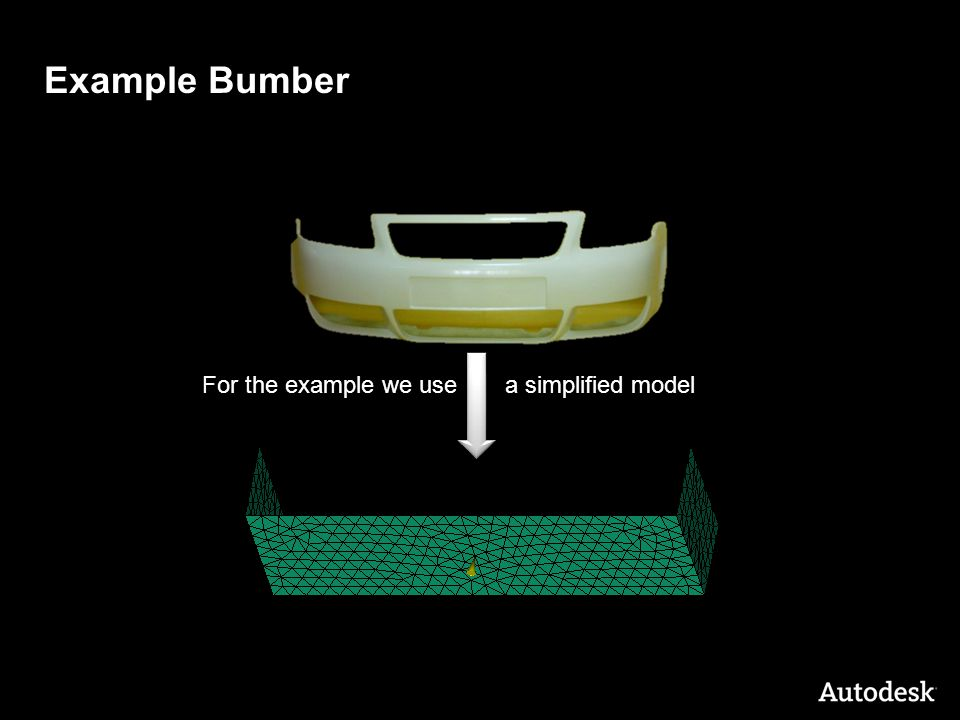 © 2011 Autodesk Example Bumber For the example we use a simplified model