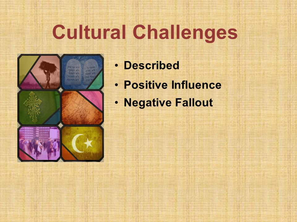 Cultural Challenges Negative Fallout Described Positive Influence