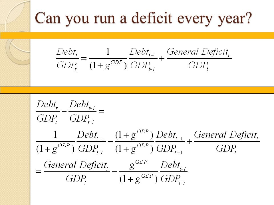 Can you run a deficit every year?