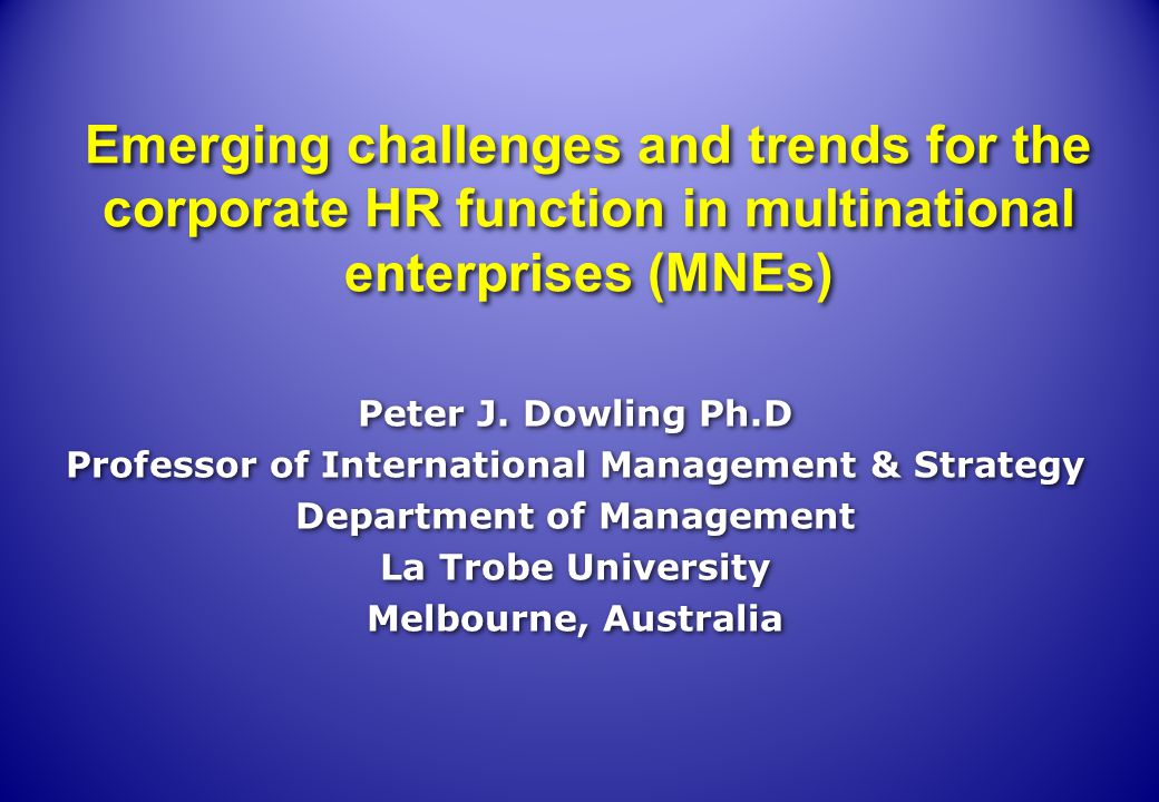 Future IHRM research needs to take a broader International Business view and explicitly focus on a strategic view of HRM in the context of the MNE and the contribution that the Corporate HRM function could make towards a better understanding of how MNEs can more effectively respond to the challenges of the 21 st Century.
