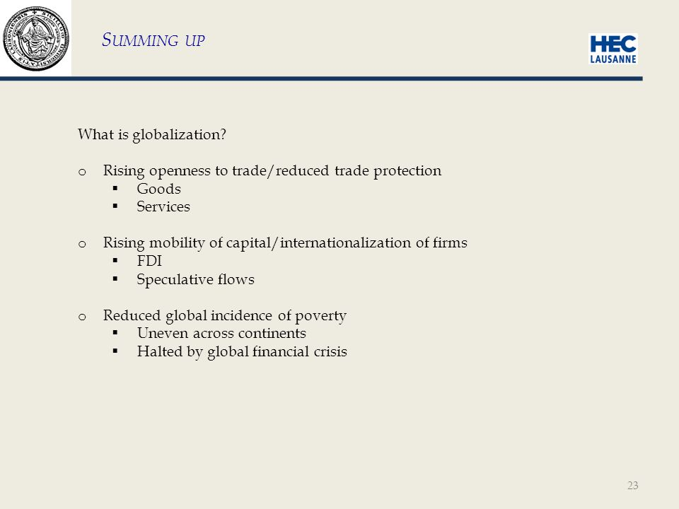 23 What is globalization.