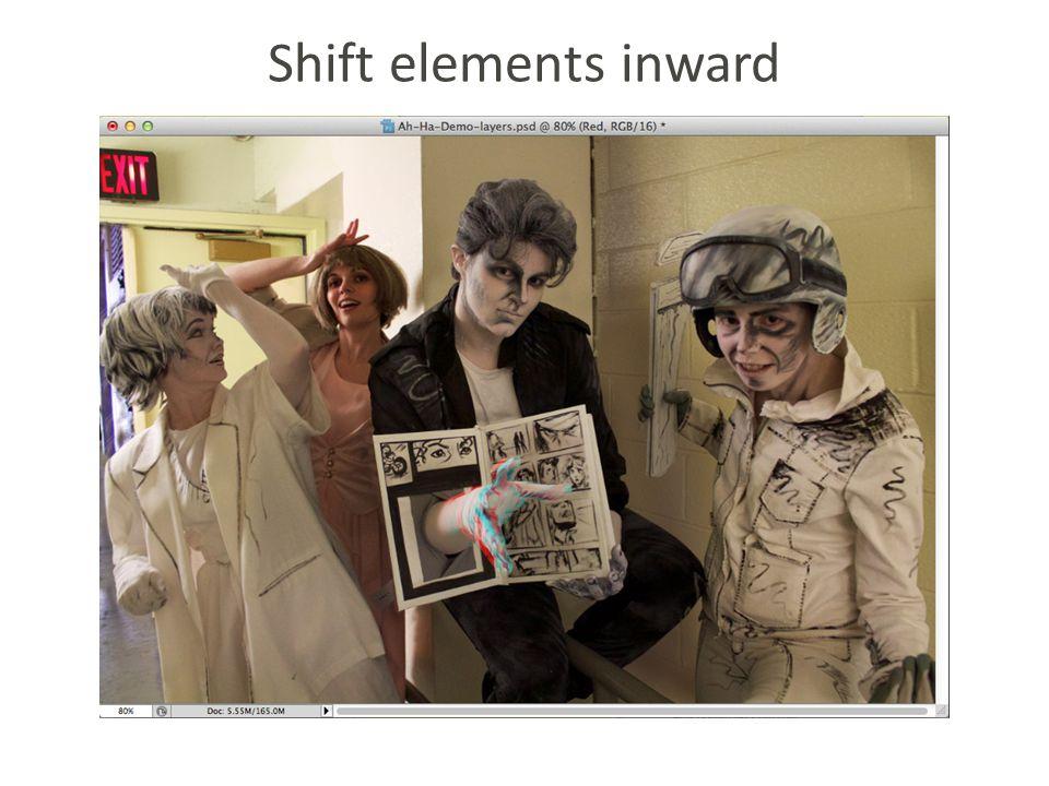 Shift elements inward