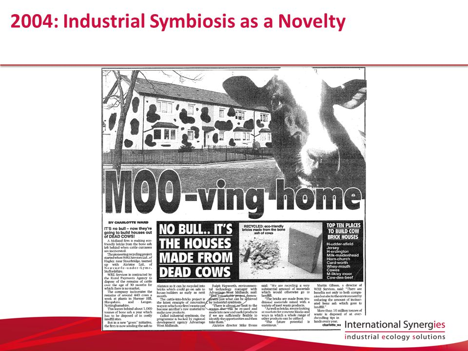 2004: Industrial Symbiosis as a Novelty