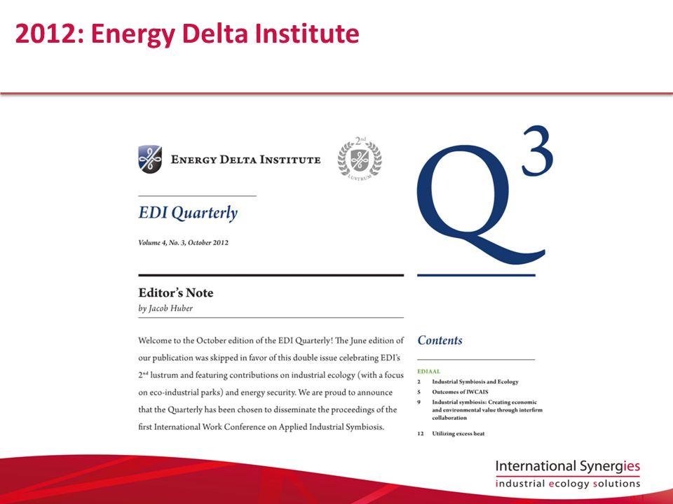 2012: Energy Delta Institute