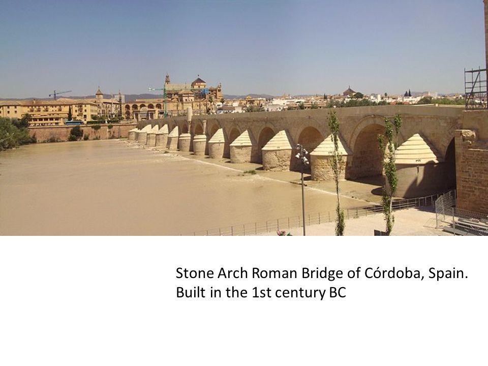 Stone Arch Roman Bridge of Córdoba, Spain. Built in the 1st century BC