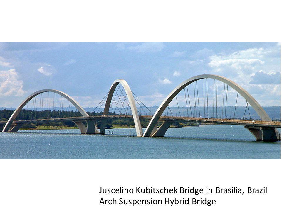 Juscelino Kubitschek Bridge in Brasilia, Brazil Arch Suspension Hybrid Bridge