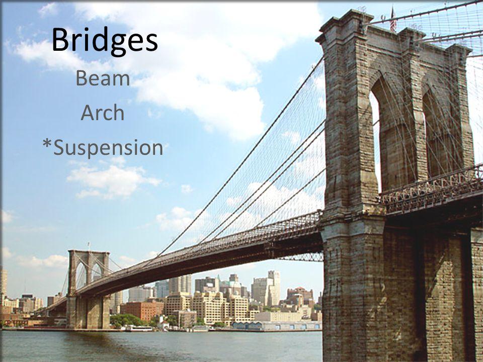 Bridges Beam Arch *Suspension