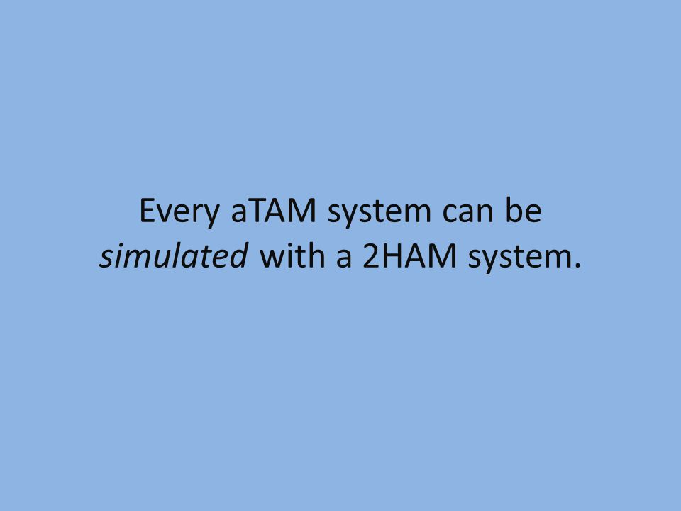 Every aTAM system can be simulated with a 2HAM system.