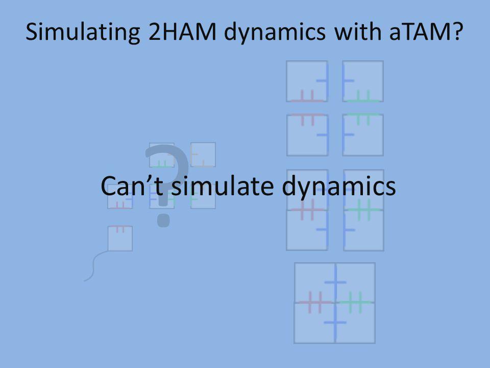 Simulating 2HAM dynamics with aTAM? ? Can't simulate dynamics