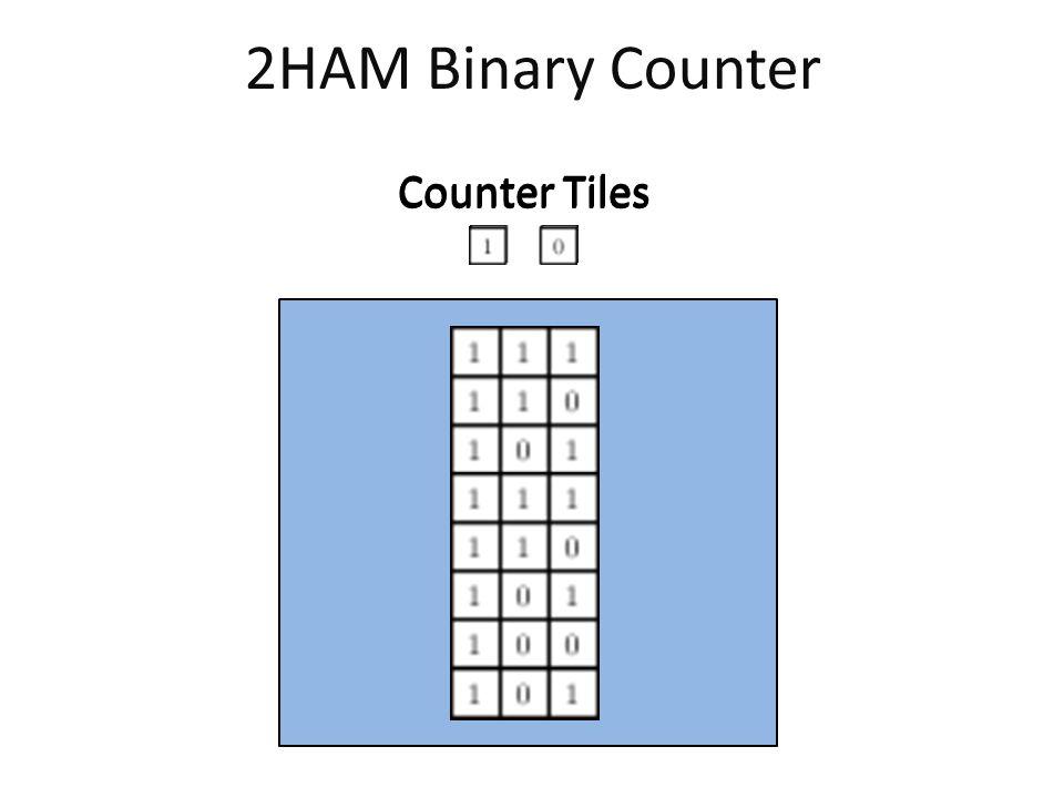 2HAM Binary Counter Counter Tiles
