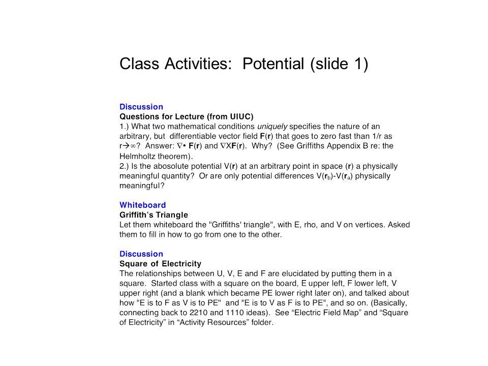 Class Activities: Potential (slide 1)