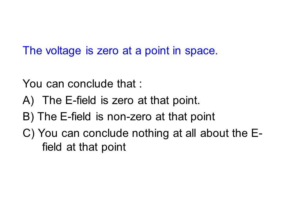 The voltage is zero at a point in space.