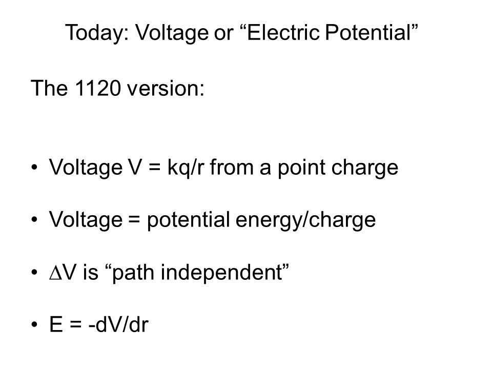 Potential and E-field = external work done on charge to move it