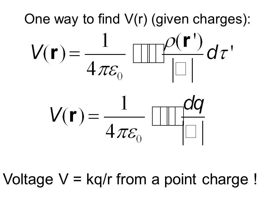 Voltage V = kq/r from a point charge !