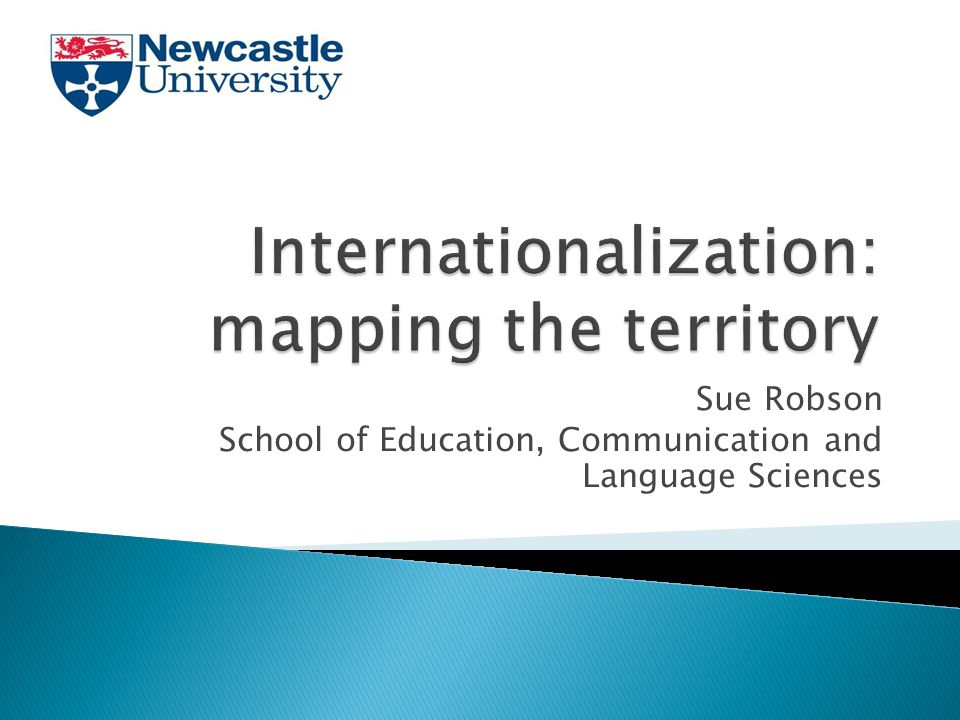  Exploring the notion of HE Internationalization  Characterizing an 'international' institution