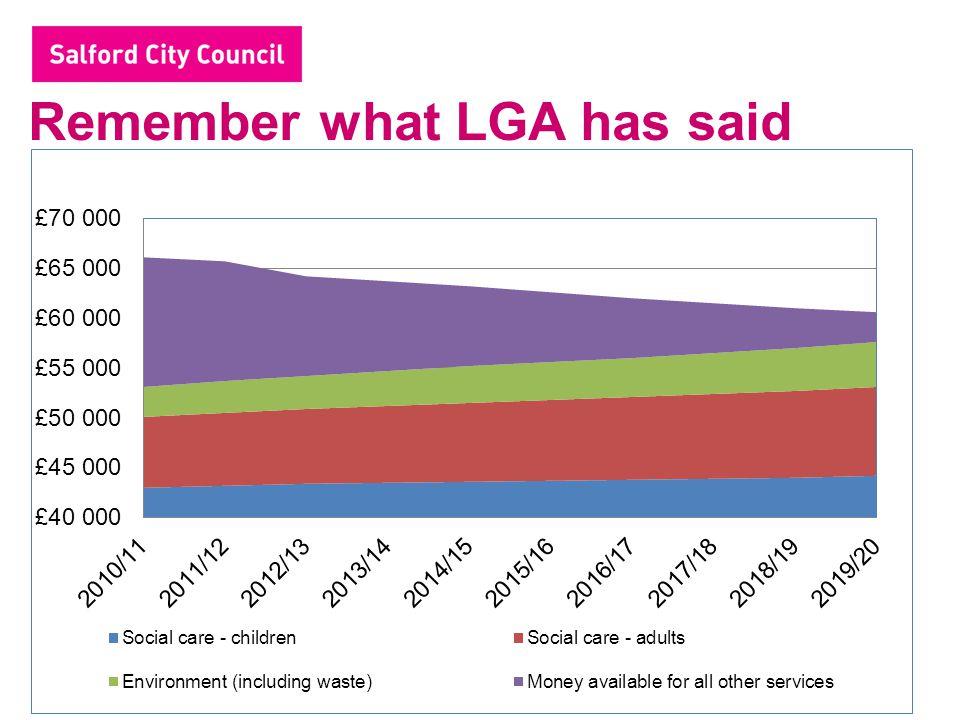 Remember what LGA has said