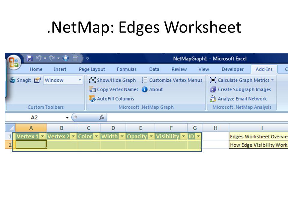 .NetMap: Edges Worksheet