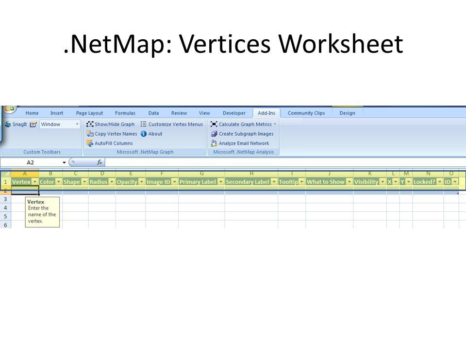 .NetMap: Vertices Worksheet