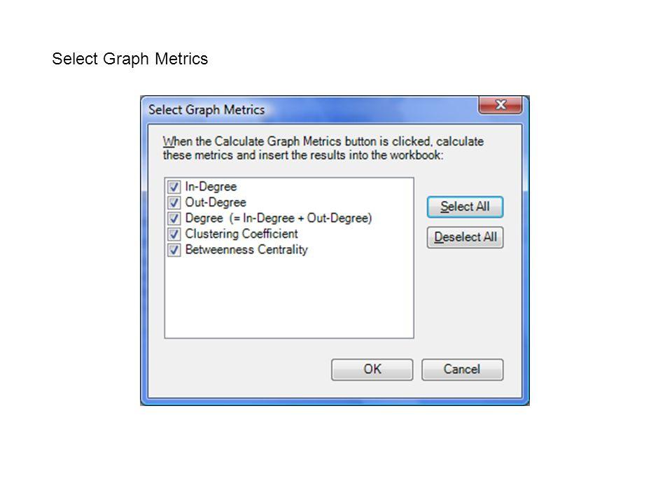 Select Graph Metrics