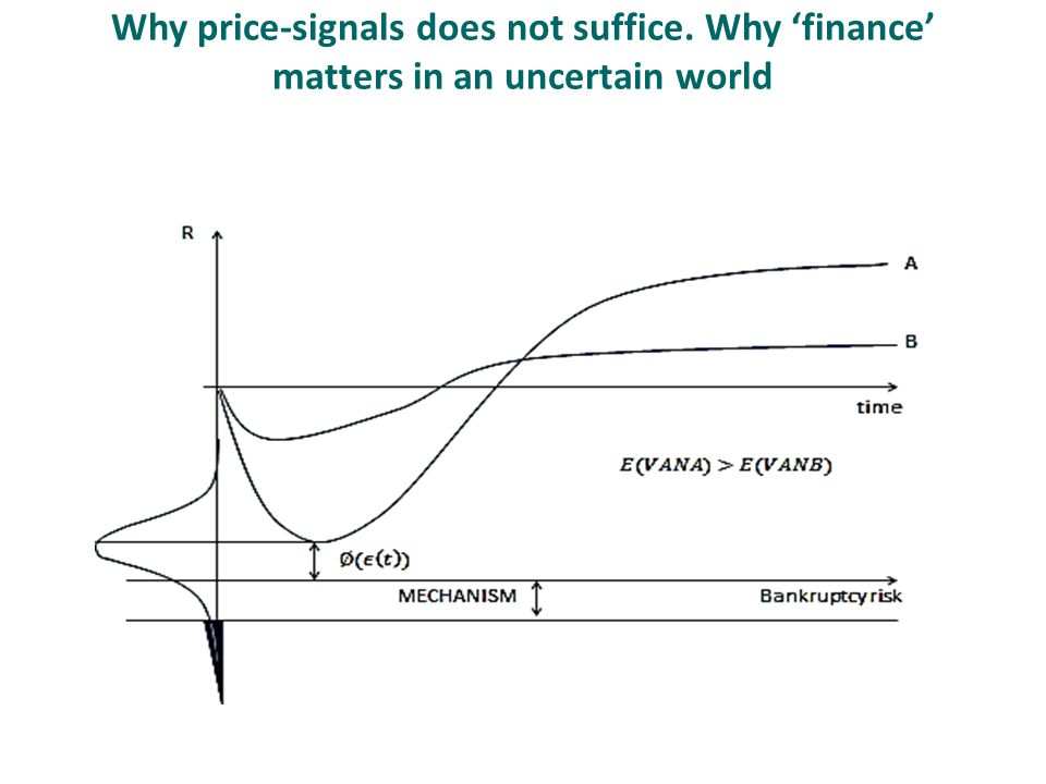 Why price-signals does not suffice. Why 'finance' matters in an uncertain world