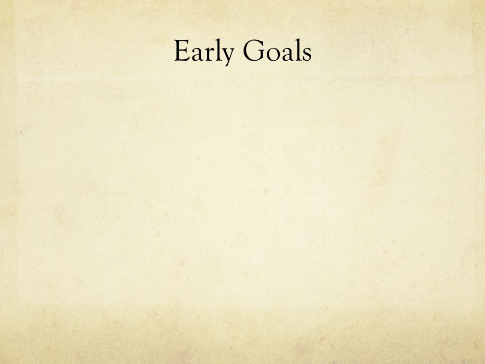 Early Goals