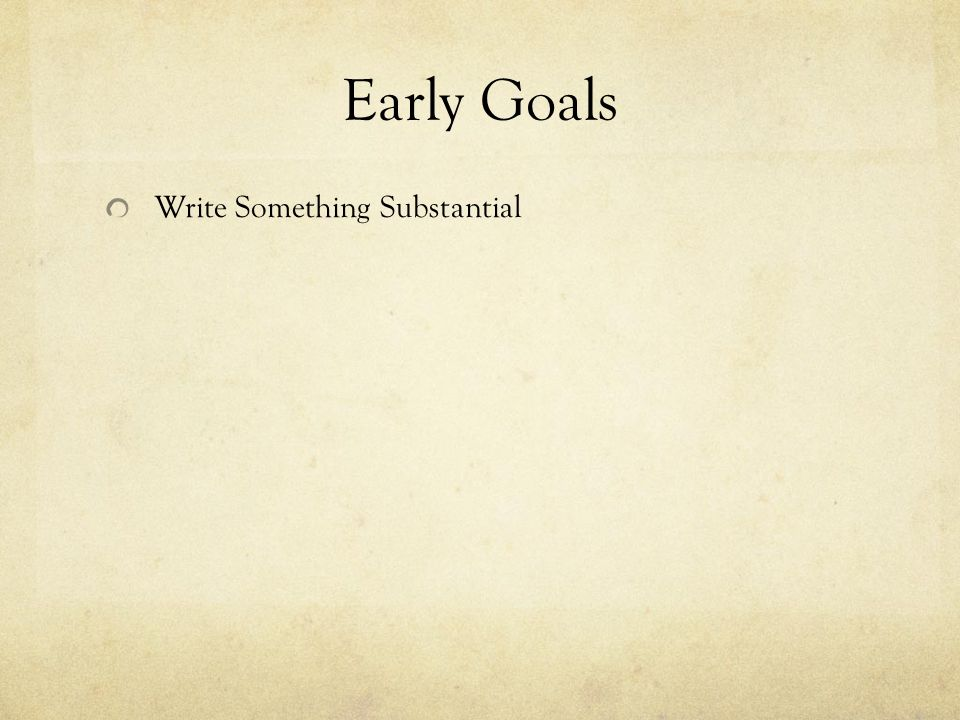 Write Something Substantial