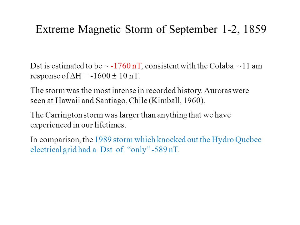 Extreme Magnetic Storm of September 1-2, 1859 Dst is estimated to be ~ -1760 nT, consistent with the Colaba ~11 am response of ΔH = -1600 ± 10 nT.