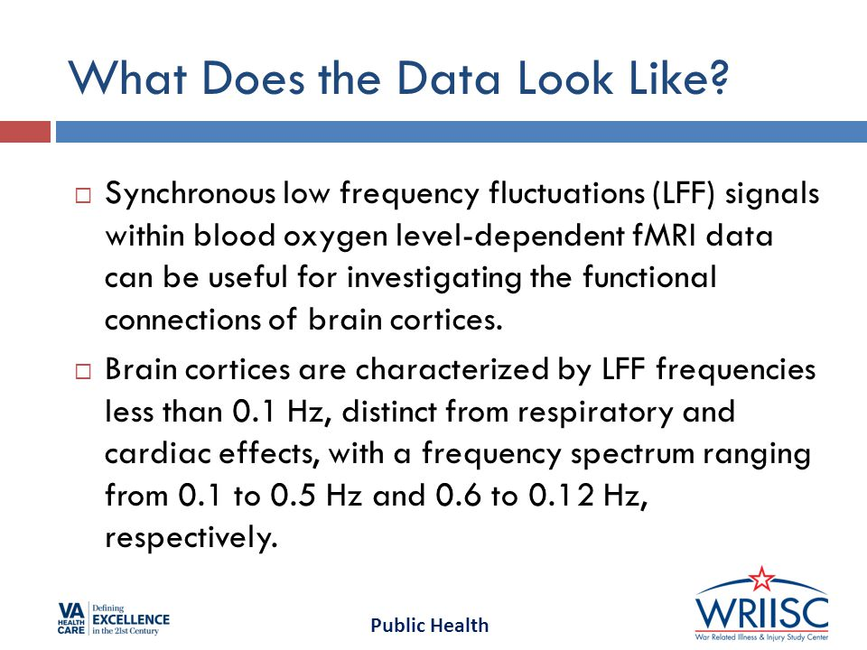Public Health What Does the Data Look Like.