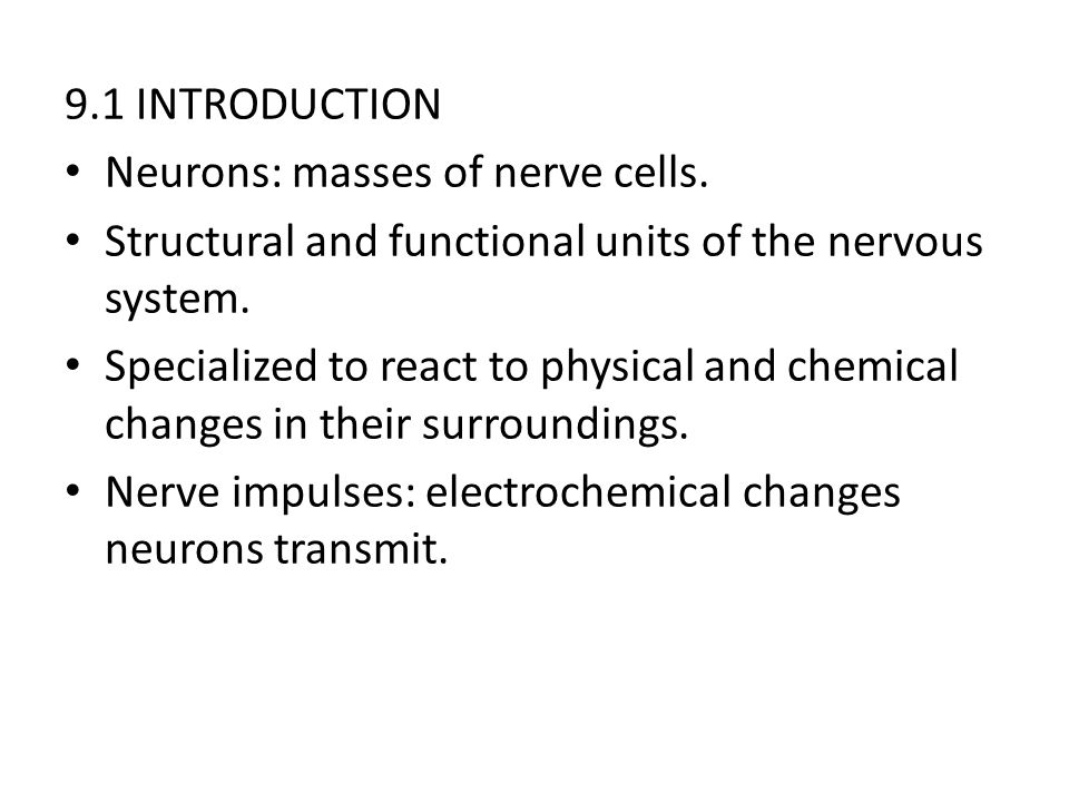 9.4 NEURONS Neurofibrils: fine threads, extend into the axons (in the cell body).