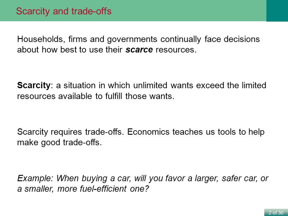 3 of 30 Use a production possibilities frontier to analyze opportunity costs and trade-offs.