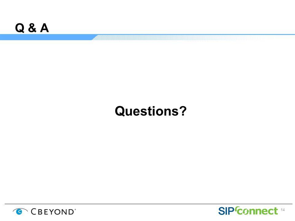 14 Q & A Questions