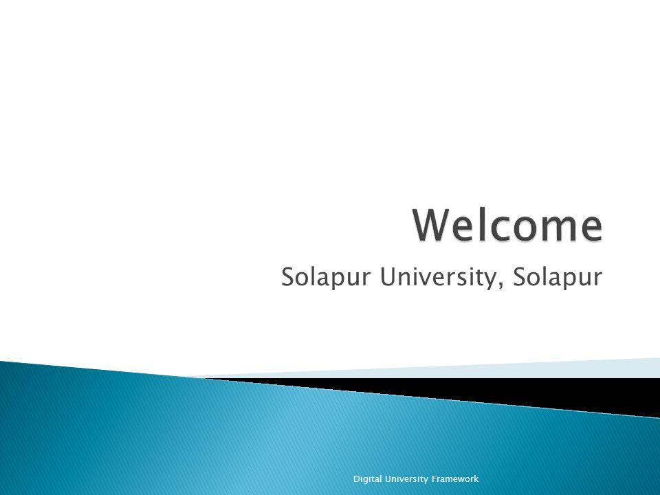 Solapur University, Solapur Digital University Framework
