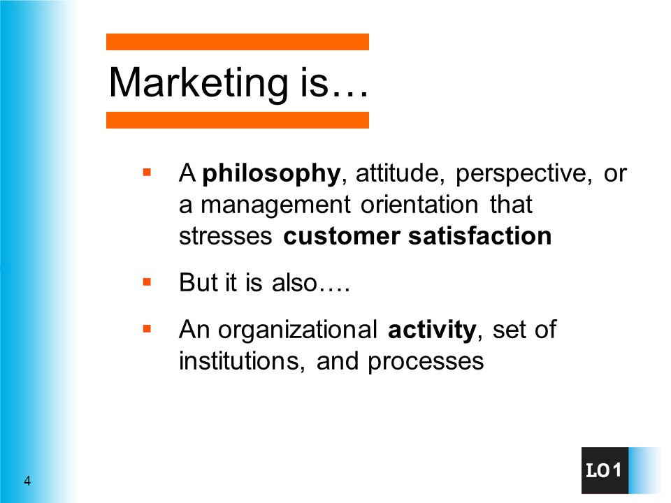 5 Marketing is the activity, set of institutions, and processes for creating, communicating, delivering, and exchanging offerings that have value for customers, clients, partners, and society at large.