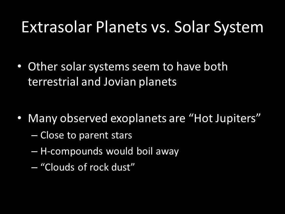 Extrasolar Planets vs.