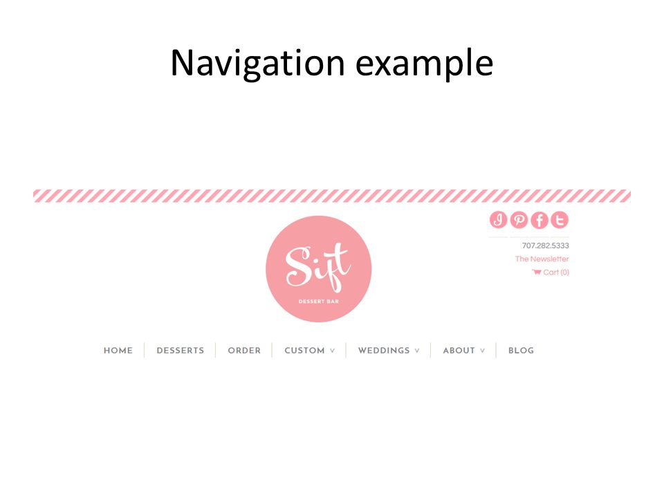 Navigation example