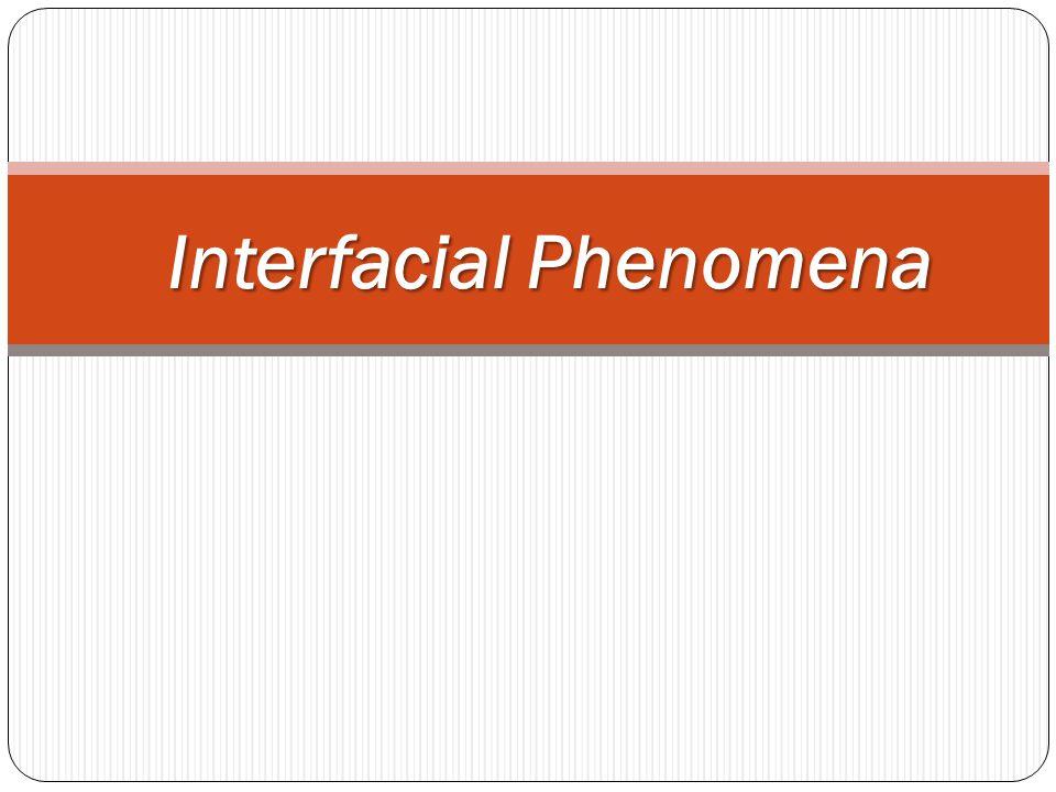 Interfacial Phenomena