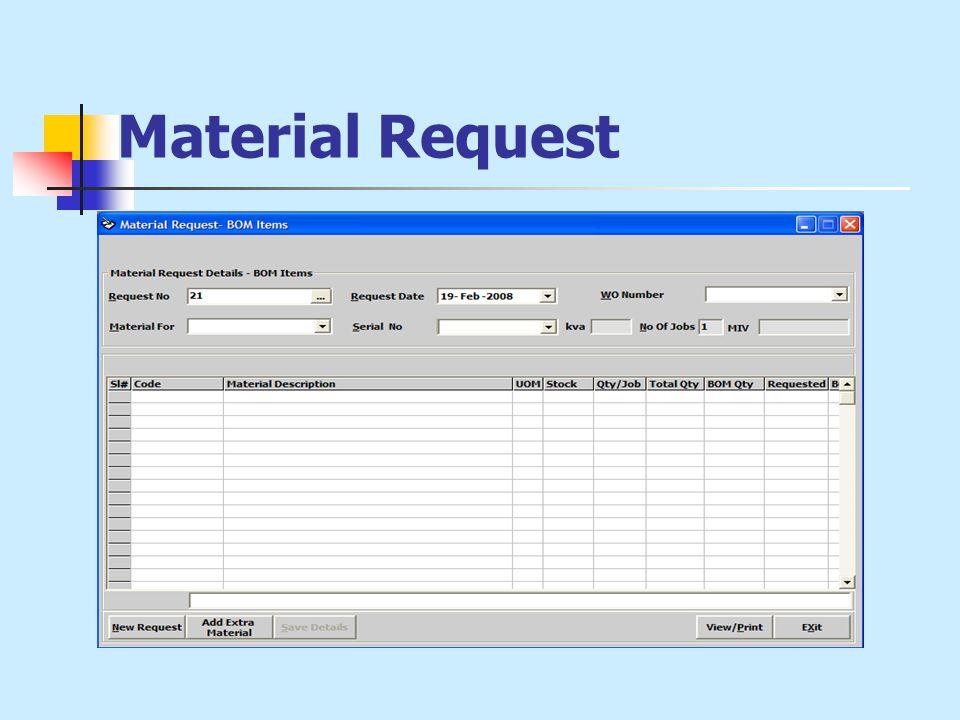 Material Request