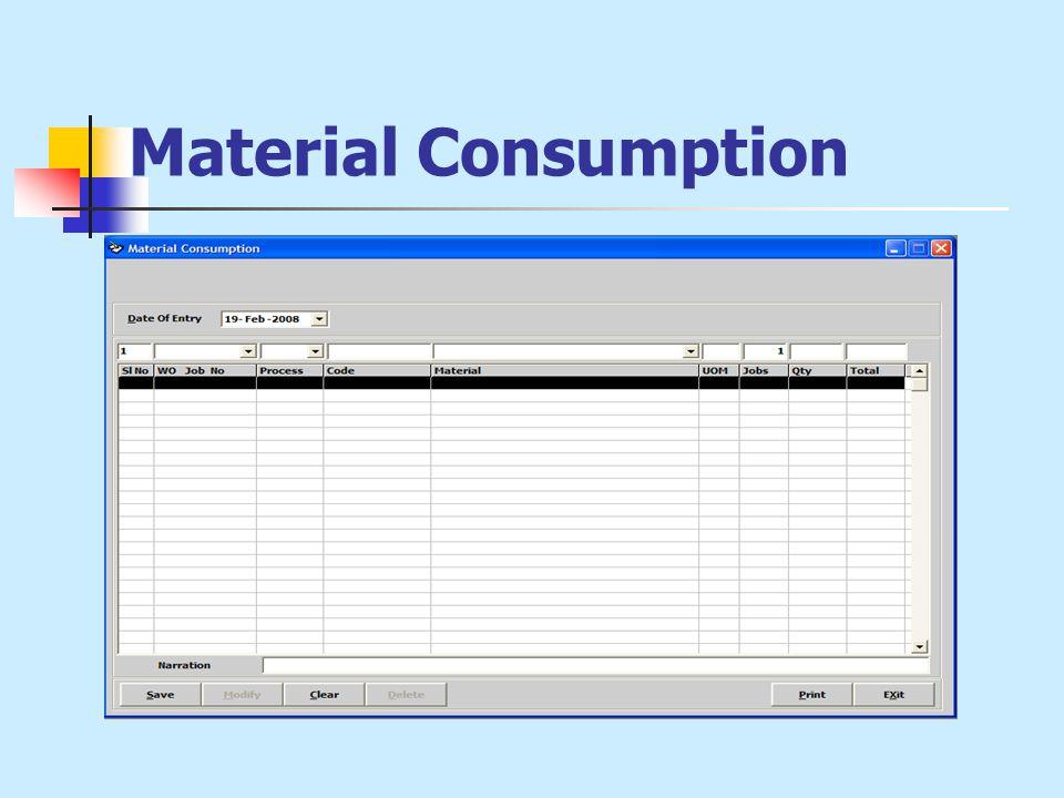 Material Consumption