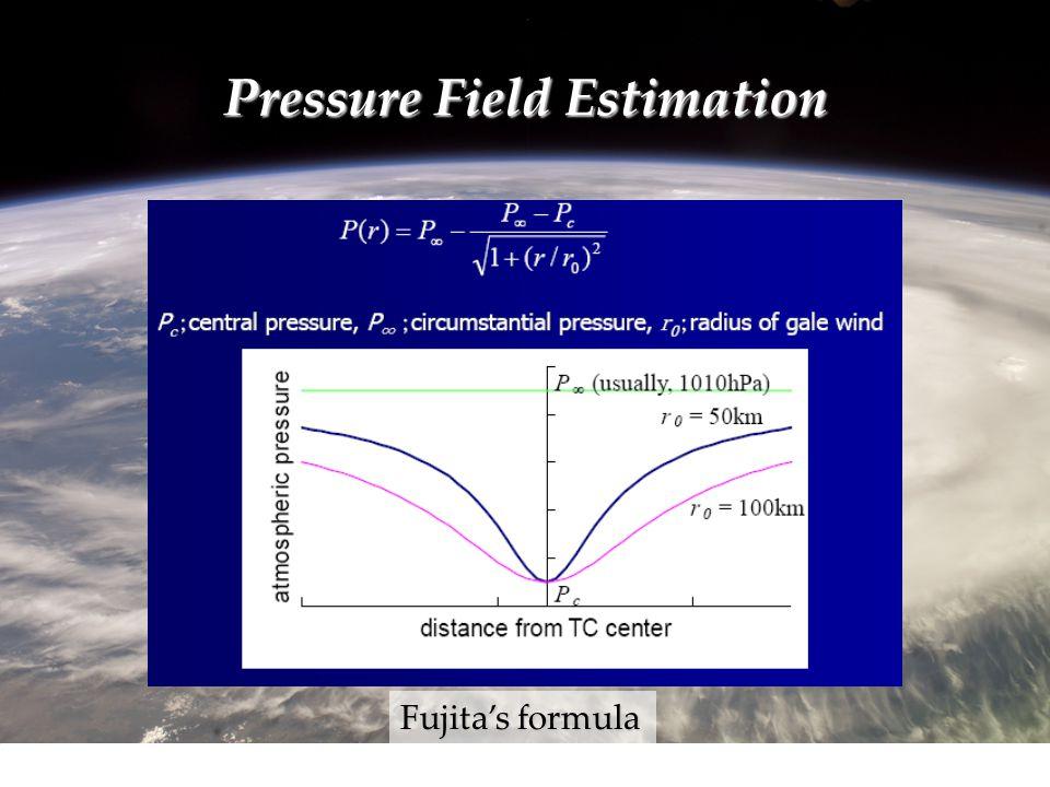 Pressure Field Estimation Fujita's formula
