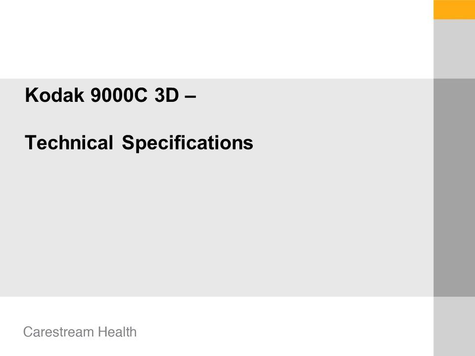 Kodak 9000C 3D – Technical Specifications