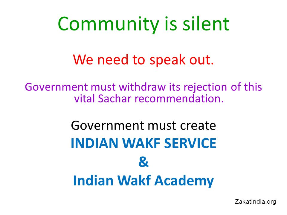 Community is silent We need to speak out.