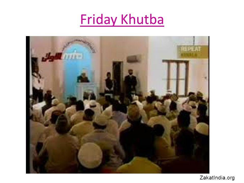 Friday Khutba ZakatIndia.org