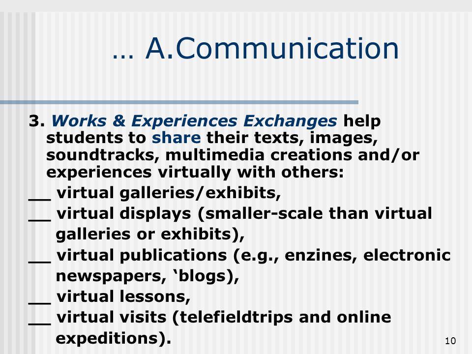 10 … A.Communication 3.