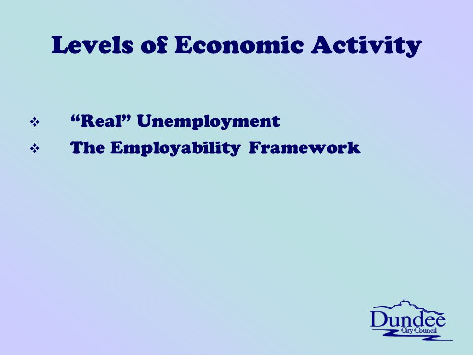 Levels of Economic Activity v Real Unemployment v The Employability Framework