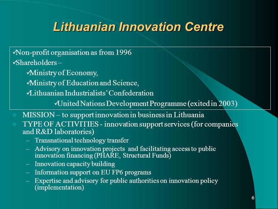 7 Lithuanian Inovation Centre.