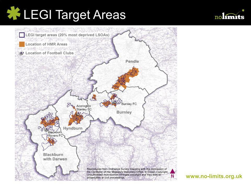 LEGI Target Areas www.no-limits.org.uk