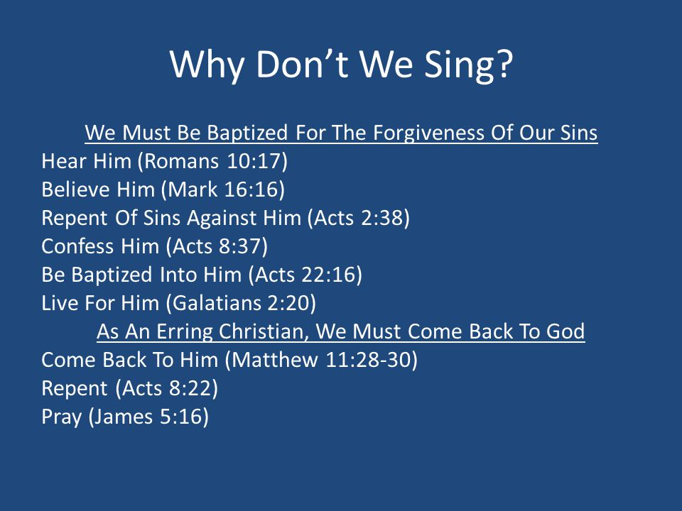 Why Don't We Sing.