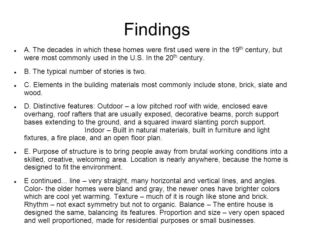 Findings A.