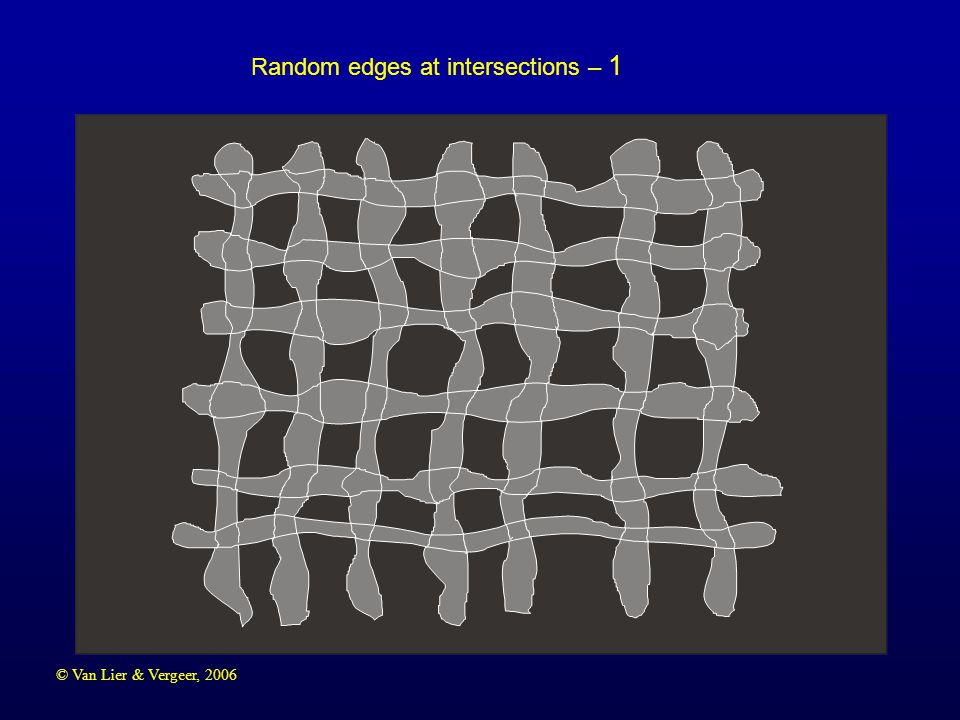 © Van Lier & Vergeer, 2006 Random edges at intersections – 2
