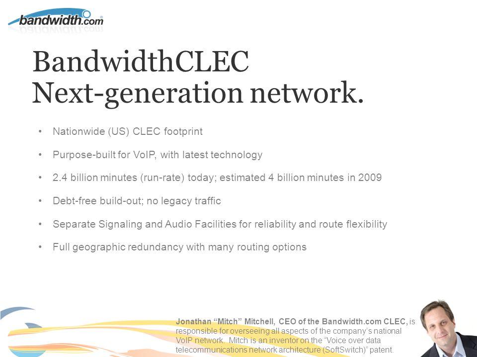 BandwidthCLEC Next-generation network.